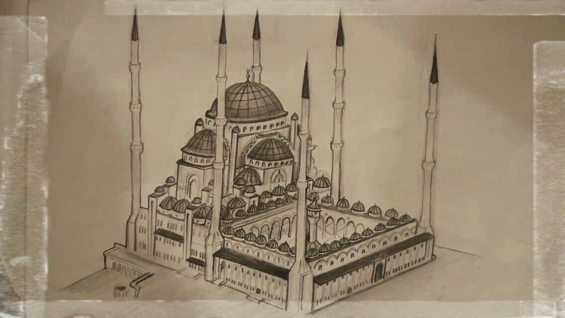 Cami Karakalem Cizim Cizim Resim Cizimler
