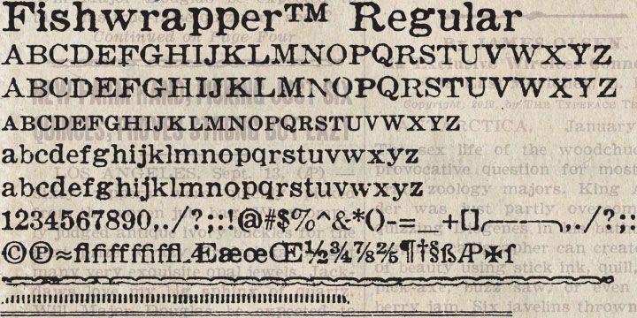 Fishwrapper Font Download Download Fonts Fonts Vintage Newspaper