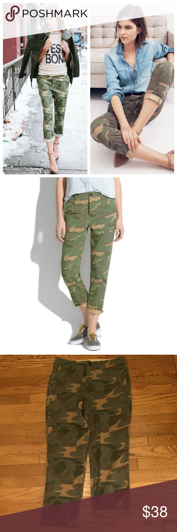"""Madewell Cropped Rivington Trouser, sz 28 NWT! So versatile, can be worn rolled/cuffed or down. 26.5"""" inseam Madewell Pants"""