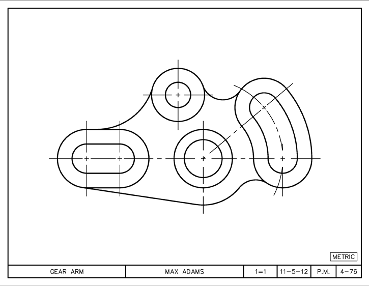 gear arm in autocad 2013