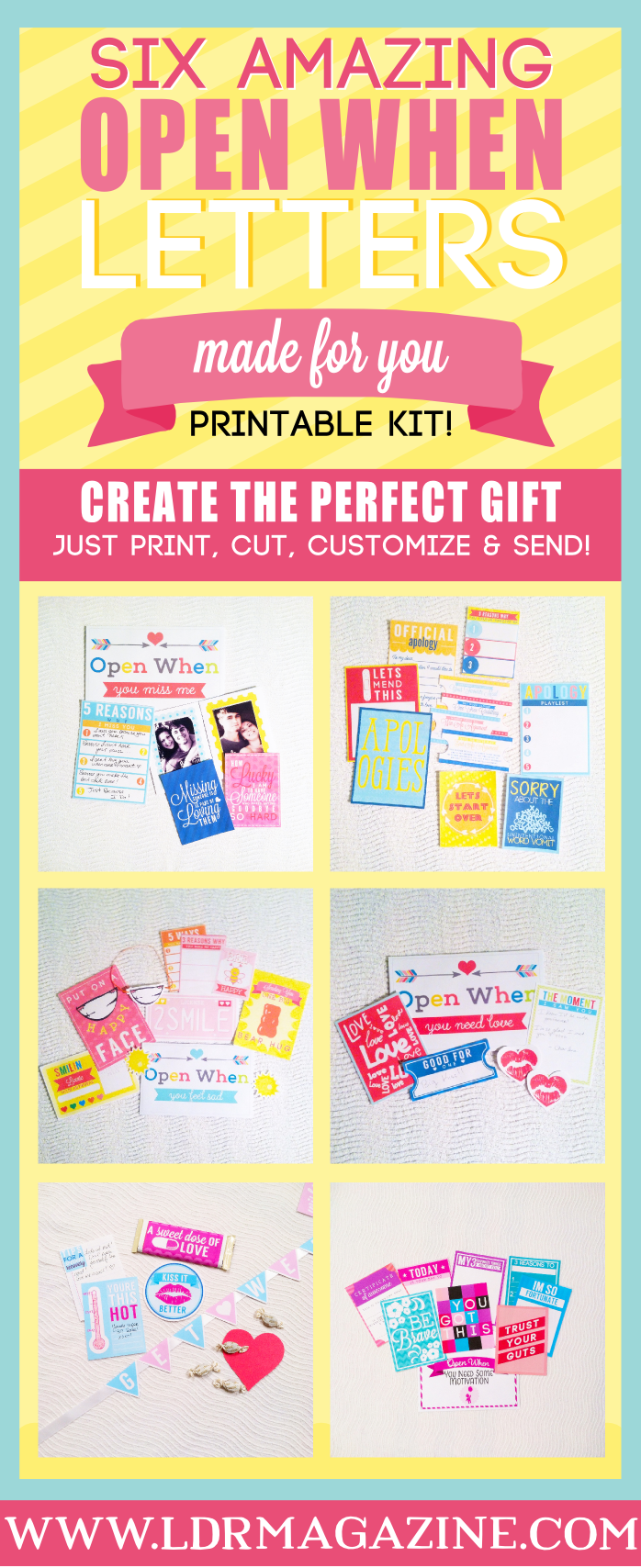 Fill Your Open When Letters with these Awesome Printables