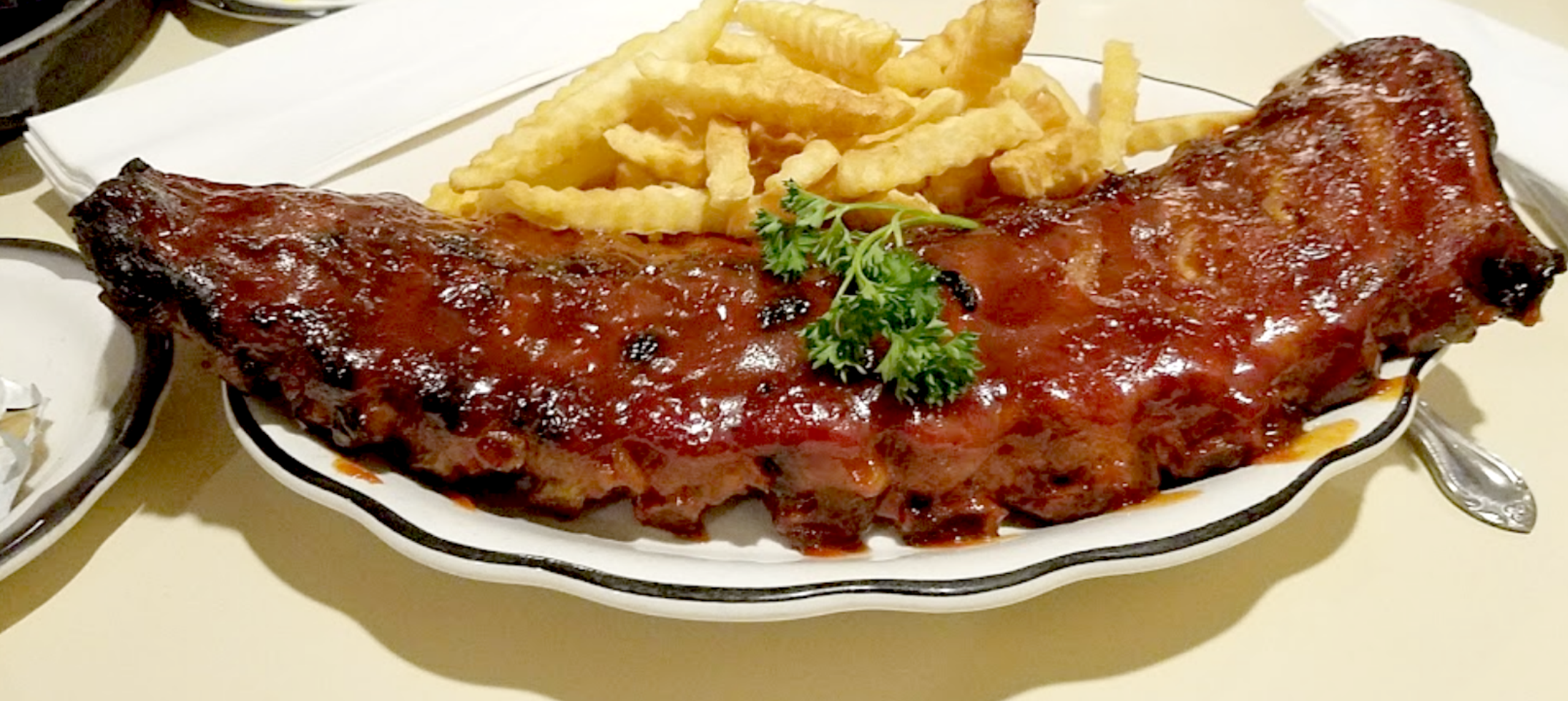 You re gonna need some napkins Full rack of ribs at the Sister
