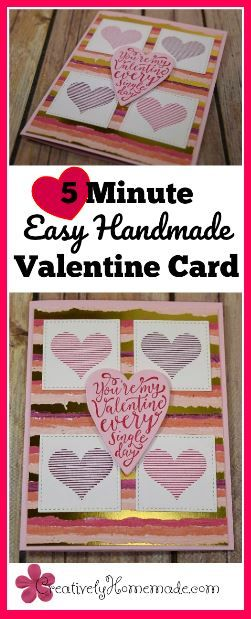 5 Minute Easy Handmade Valentine Card For That Special Someone