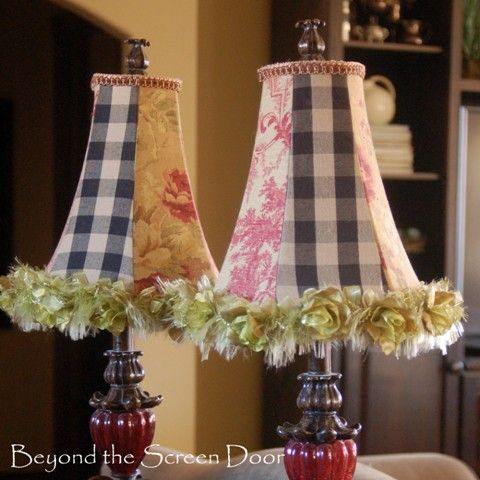 Twice Loved Ruffled Loose Fold Valance French Country Decorating Lampshades Lamp Shades