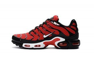 lowest price 6156f eb928 Nike Air Max Plus TXT Tn KPU Diablo Red Black White 604133 101 Mens Running  Shoes