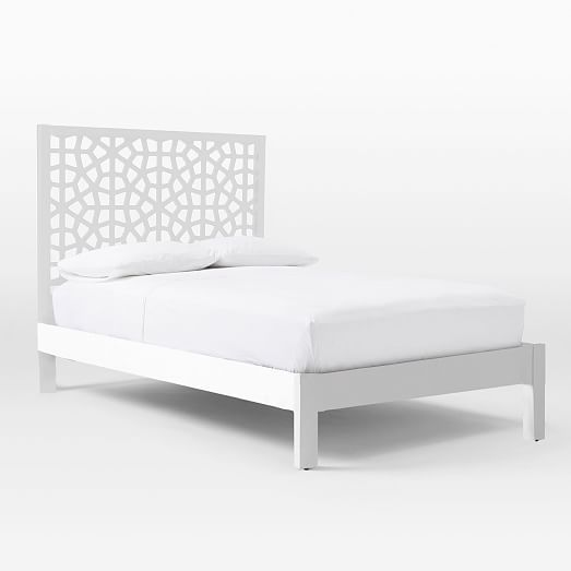 Morocco Bed White Simple Bed Frame Simple Bed Twin Bed Frame