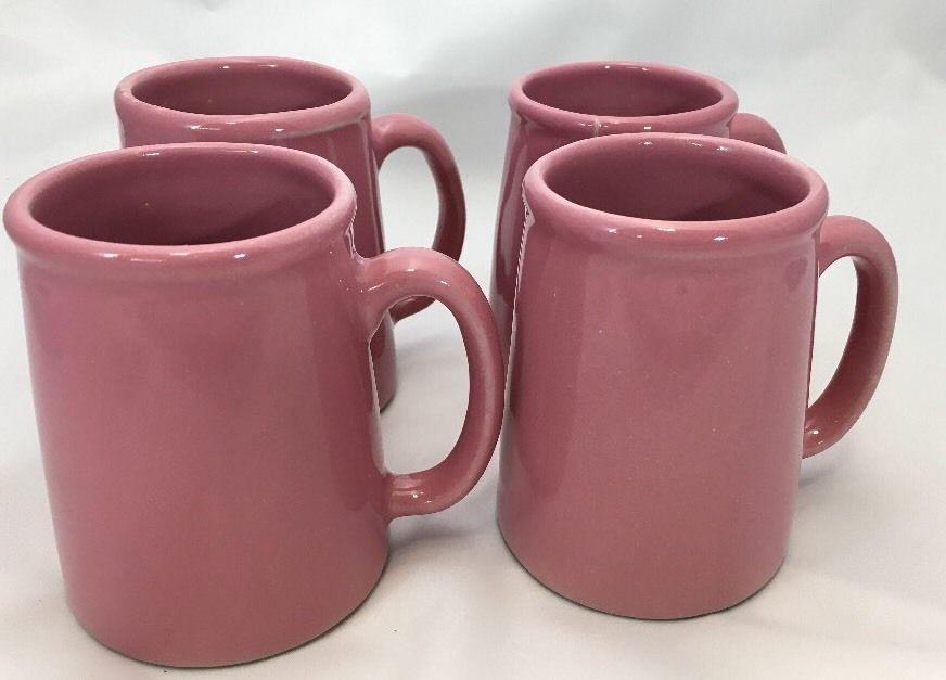 Set Of 4 Bennington S1 Mugs Pink | eBay