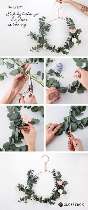 Interior DIY: Bastel Frühlingshänger aus Kleiderbügeln #apartmentdiy