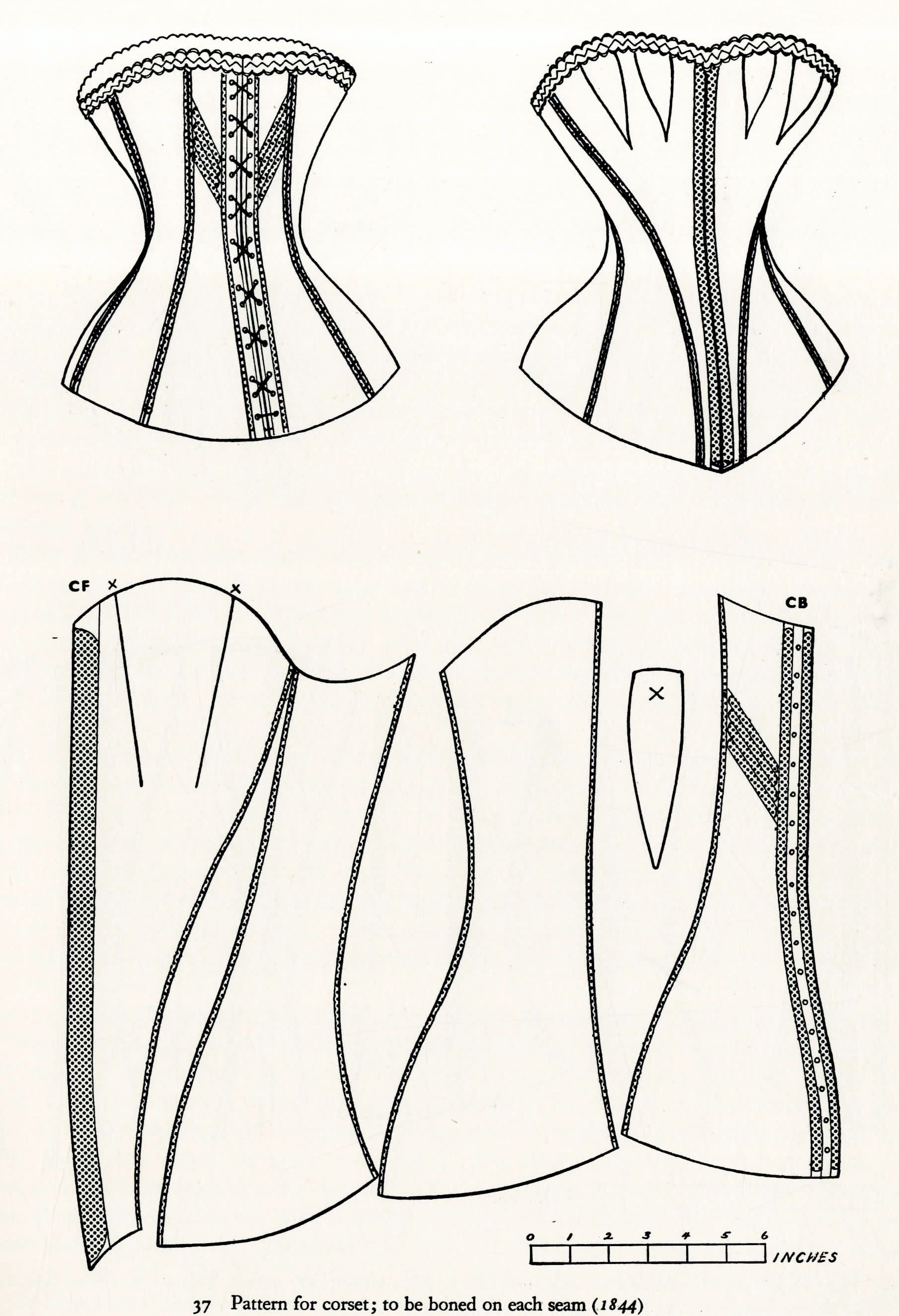 Corset Sewing Pattern Custom Decorating