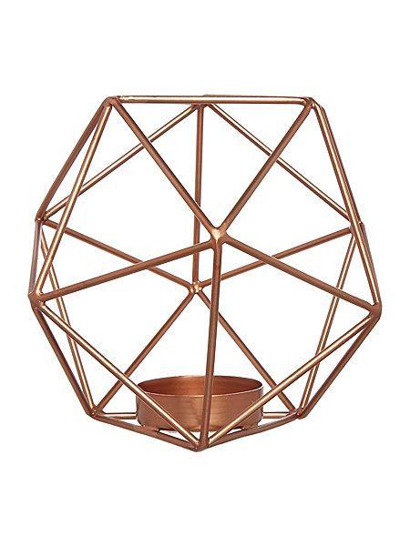 Hexagon tealight holder