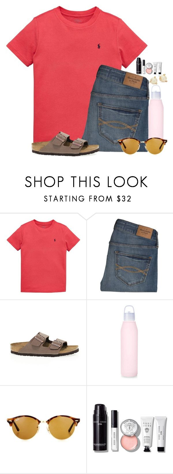 """""""Exact OOTD🍓"""" by flroasburn ❤ liked on Polyvore featuring Ralph Lauren, Abercrombie & Fitch, Birkenstock, Ray-Ban, Bobbi Brown Cosmetics and Kate Spade"""