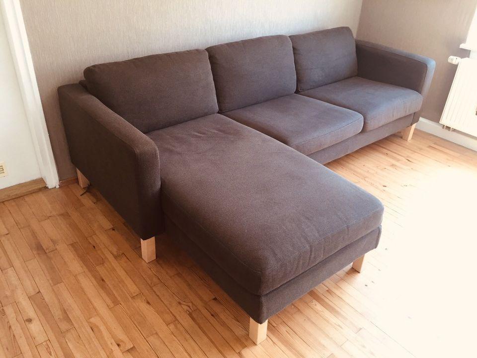 Couch Sofa Karlstad L Form Braun Von Ikea 3er Sofa