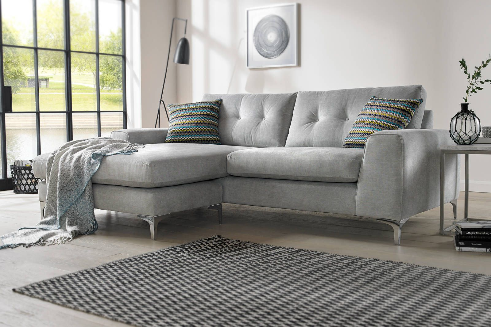 Demure Sofology Living Room Grey Home Decor Sofa
