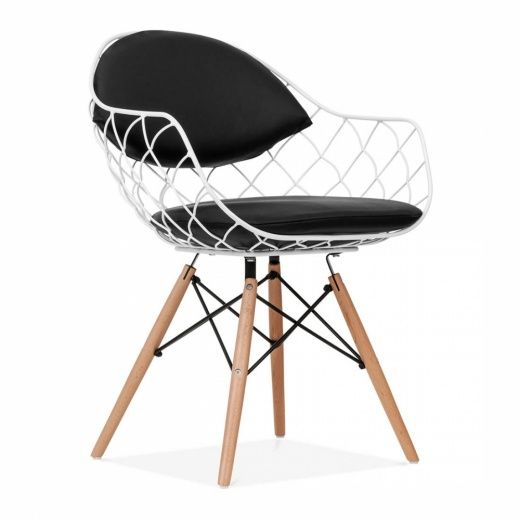 Cult Living Wire White Chair DSW Style with Wooden Legs | Cult UK