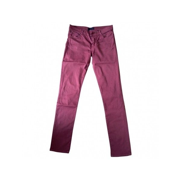 Pre-owned THE KOOPLES Pink Cotton Jeans ($70) ❤ liked on Polyvore featuring jeans, pink jeans, purple jeans and the kooples