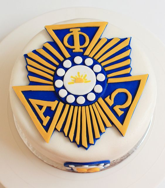 Alpha Phi Omega Cake By Box Of Sweets By Punky Porca Via Flickr