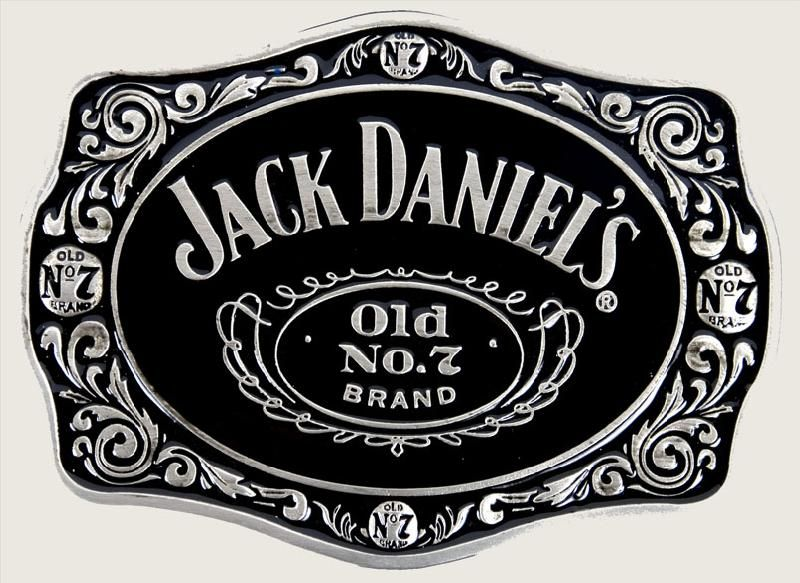 JACK DANIELS Classic Old No 7 Pewter BELT BUCKLE 2005