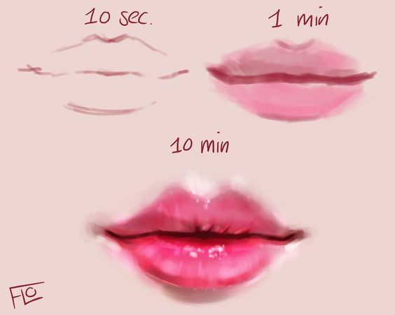 20 How To Draw Lips Drawings Realistic Face Drawing Sketches