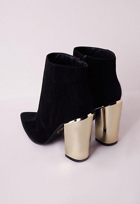 Image Result For Gold Heel Black Boots Black Like My Soul Black