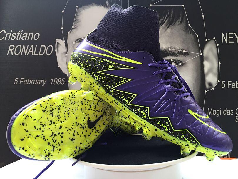 newest 2b603 672bf Nike Hypervenom Phantom II FG Soccer Cleats Purple Black ...