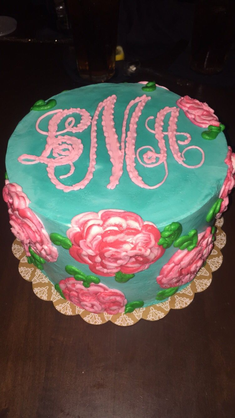 Lily Pulitzer 20th Birthday Cake Lilly Pink And Green Party Preppy