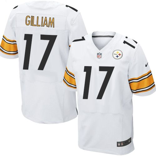 Men s Nike Pittsburgh Steelers  17 Joe Gilliam Elite White NFL Jersey 01614adf9
