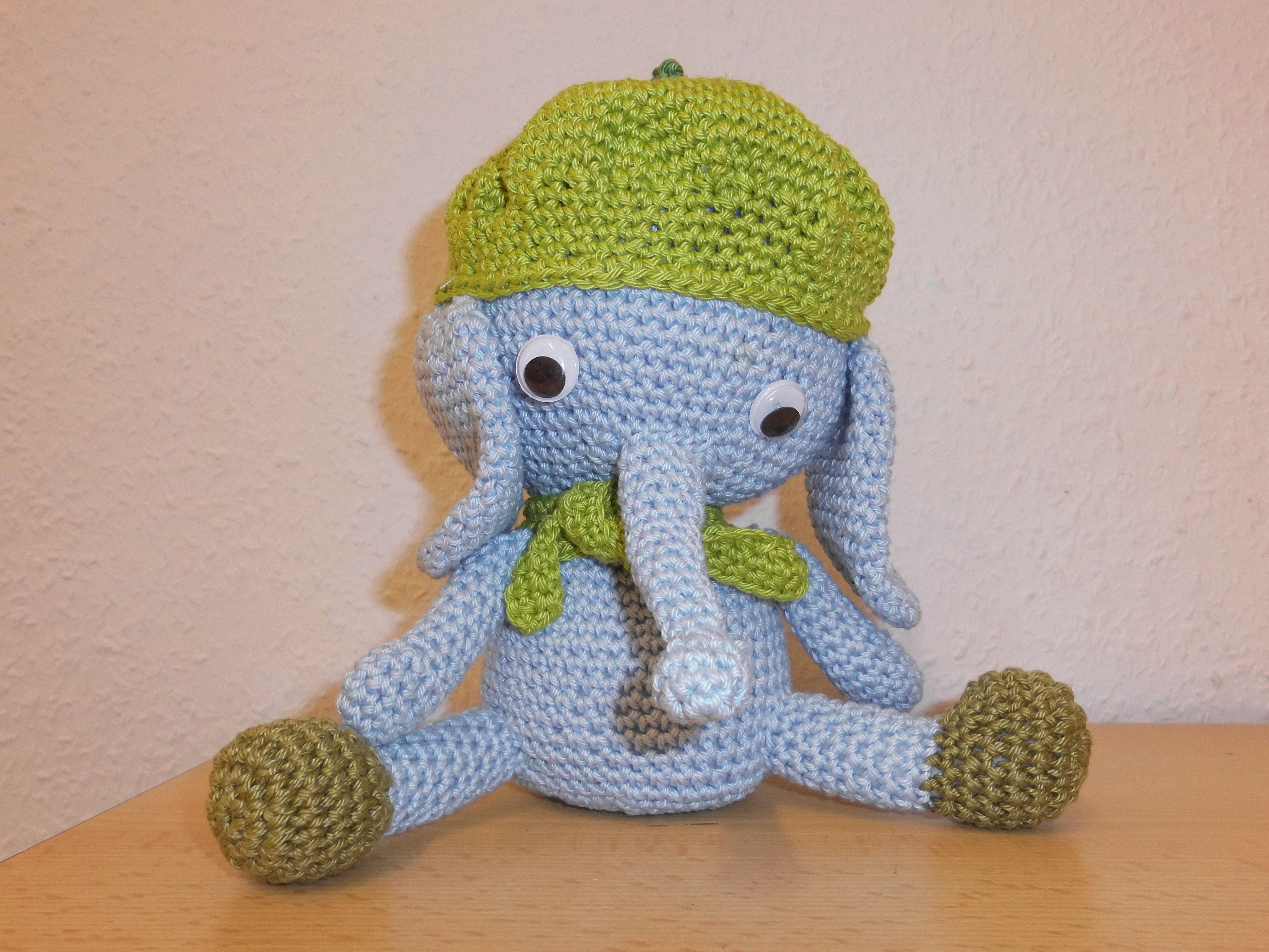 Elefant, DIY, Dumbo, Häkeltier, Selbstgemachtes, Kuscheltier ...