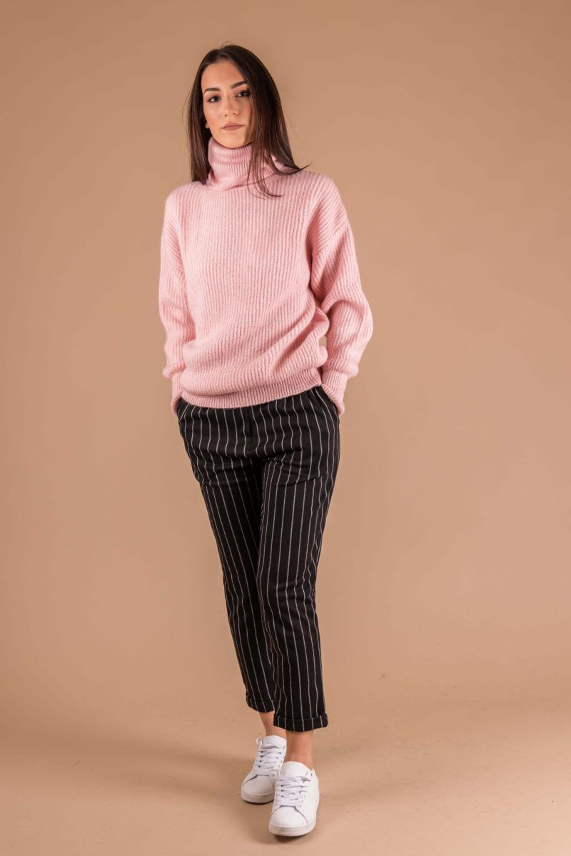 d6c7aadfb55c Ροζ πουλόβερ ζιβάγκο | Πλεκτά & Πουλόβερ | Fashion, Style και Normcore