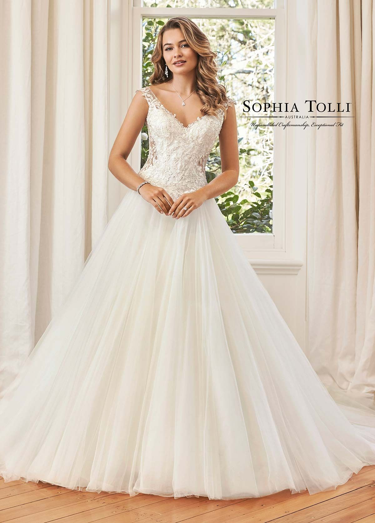 Sophia Tolli Y11574 Sophia Tolli Wedding dress train