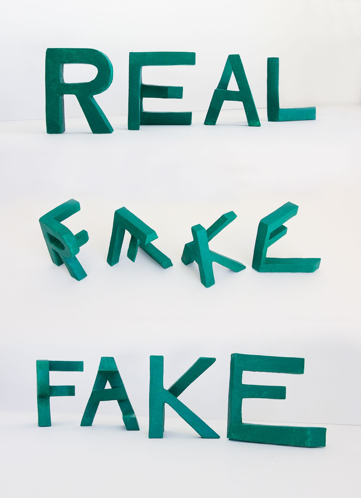 Very Cool But The Form Of Letters Doesnt Convey Real And Fake I Think In This Chaos Order Example Works Better