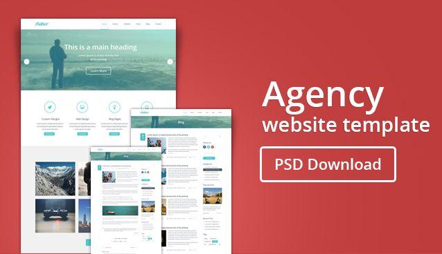 Free Agency Web Template | Free Web Templates PSD | Pinterest