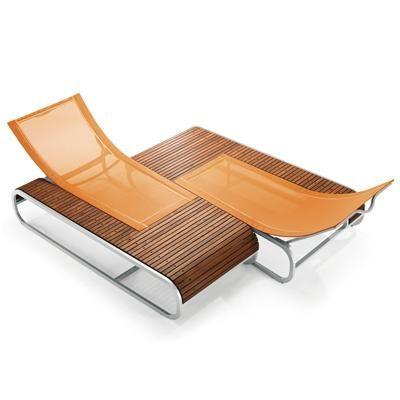Outdoor Chair Tandem Sunlounger From Ego Paris Modern Patio