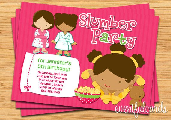 Slumber party birthday invitation african american girl party slumber party birthday invitation african by eventfulcards filmwisefo Gallery