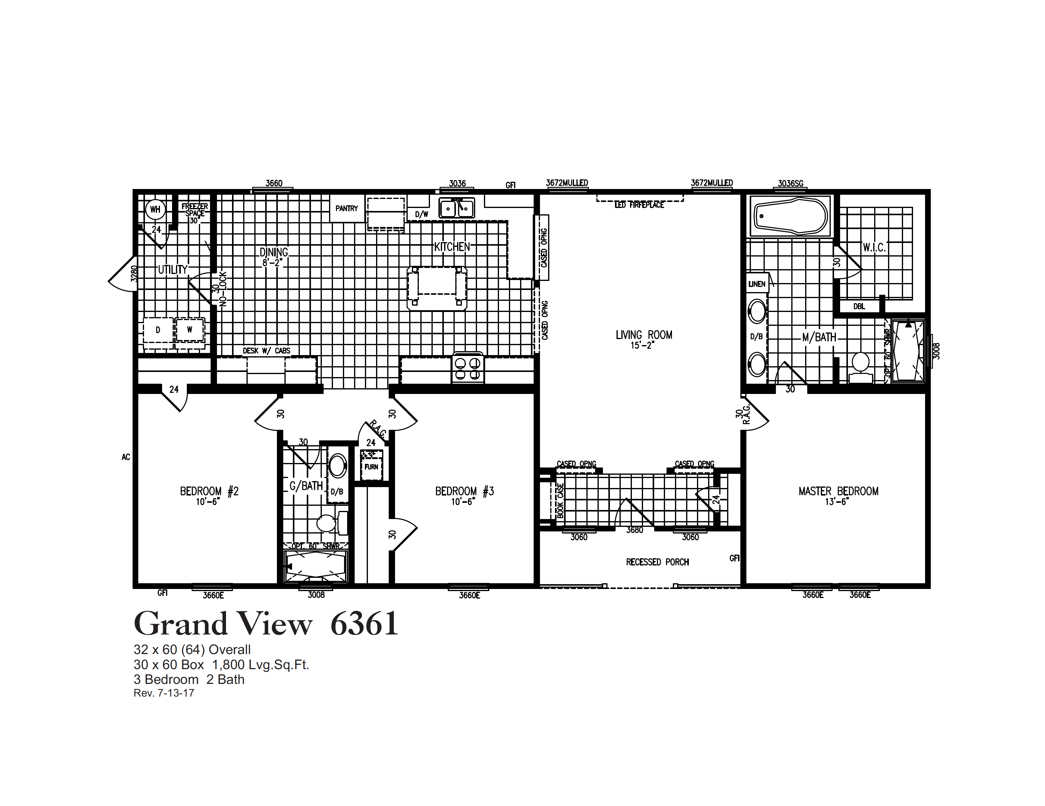 Grand view floorplan oak creek homes mobile home floor plans movable house also in rh pinterest