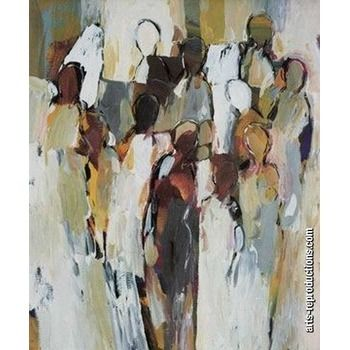 tableau peinture huile abstrait moderne (