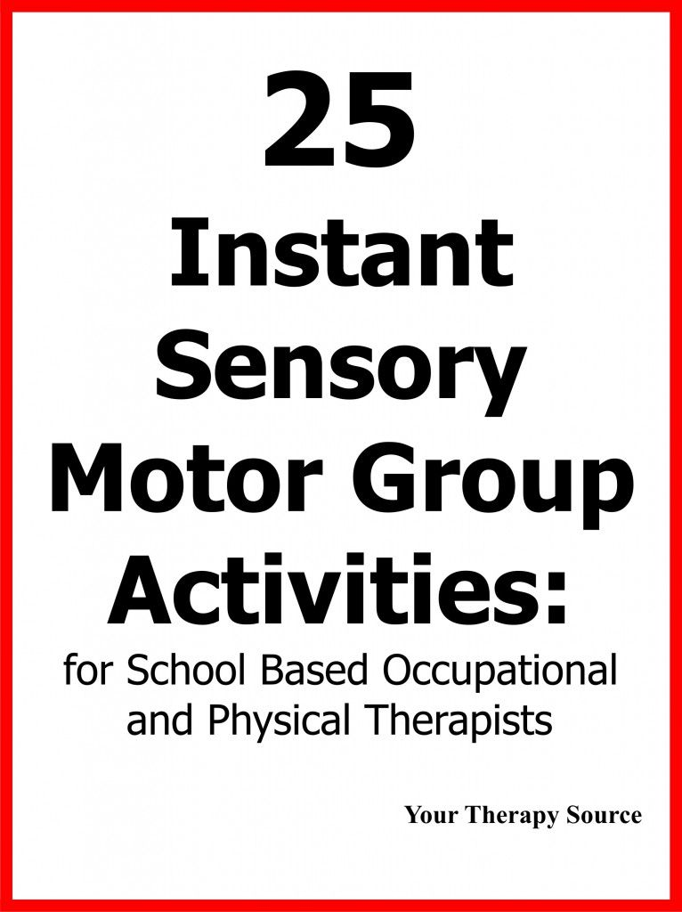 Effective Frequency For Motor Skill Groups Your Therapy Source Sensory Motor Pediatric Physical Therapy Sensory