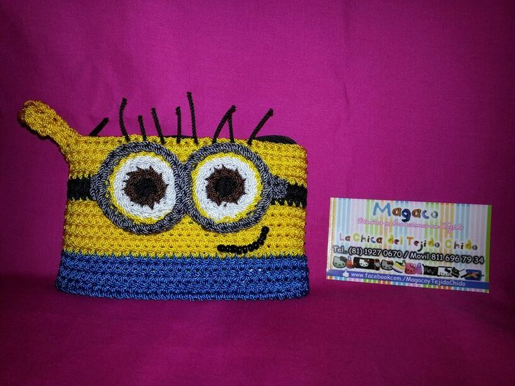Monedero Minion Minions crochet by Tejido Chido Pinterest