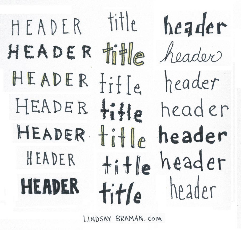 Cheat Sheet of SuperSimple Handlettering Fonts