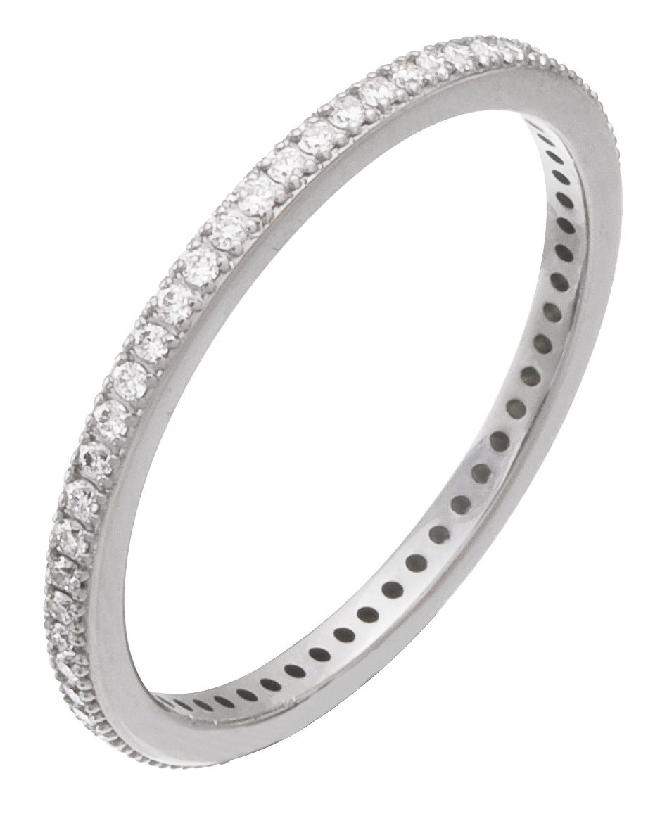 Diamond Ring, .27 Carat Diamonds on 14K White Gold