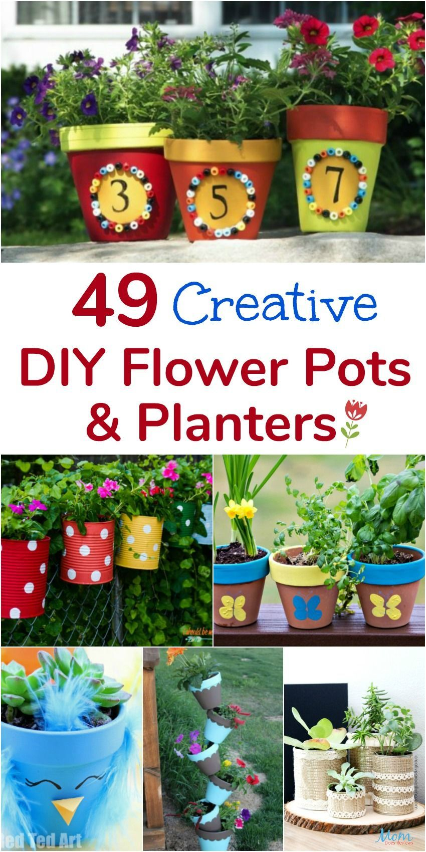 49 Creative Diy Flower Pots And Planters That Are Fun And Unique Jardineria Diy Flower Pots Unique Flower Pots Flower Pots