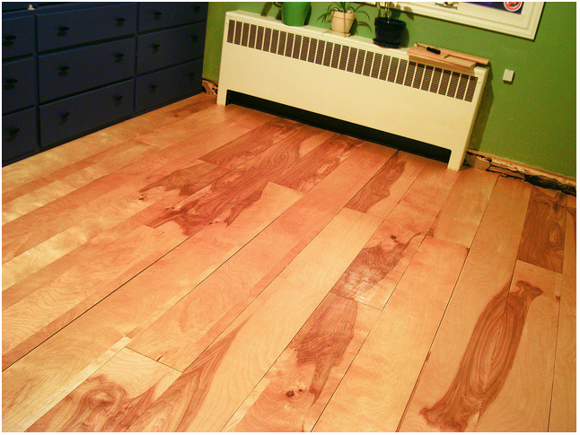 and another diy plywood floor example