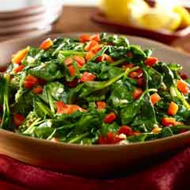 Sauteed Spinach With Red Bell Pepper Recipe In 2019 Cheeseless