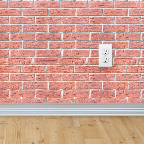 REMOVABLE brick wall paper - shut the front door! This would be ...