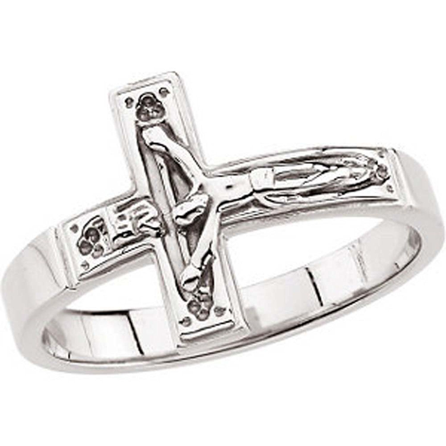stainless bright for jerezwine jewelry cross catholic background religious steel rings crucifix pendant men necklace