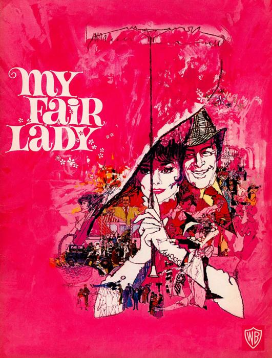 Audrey Hepburn Rex Harrison movie poster print 6 My Fair Lady 1964