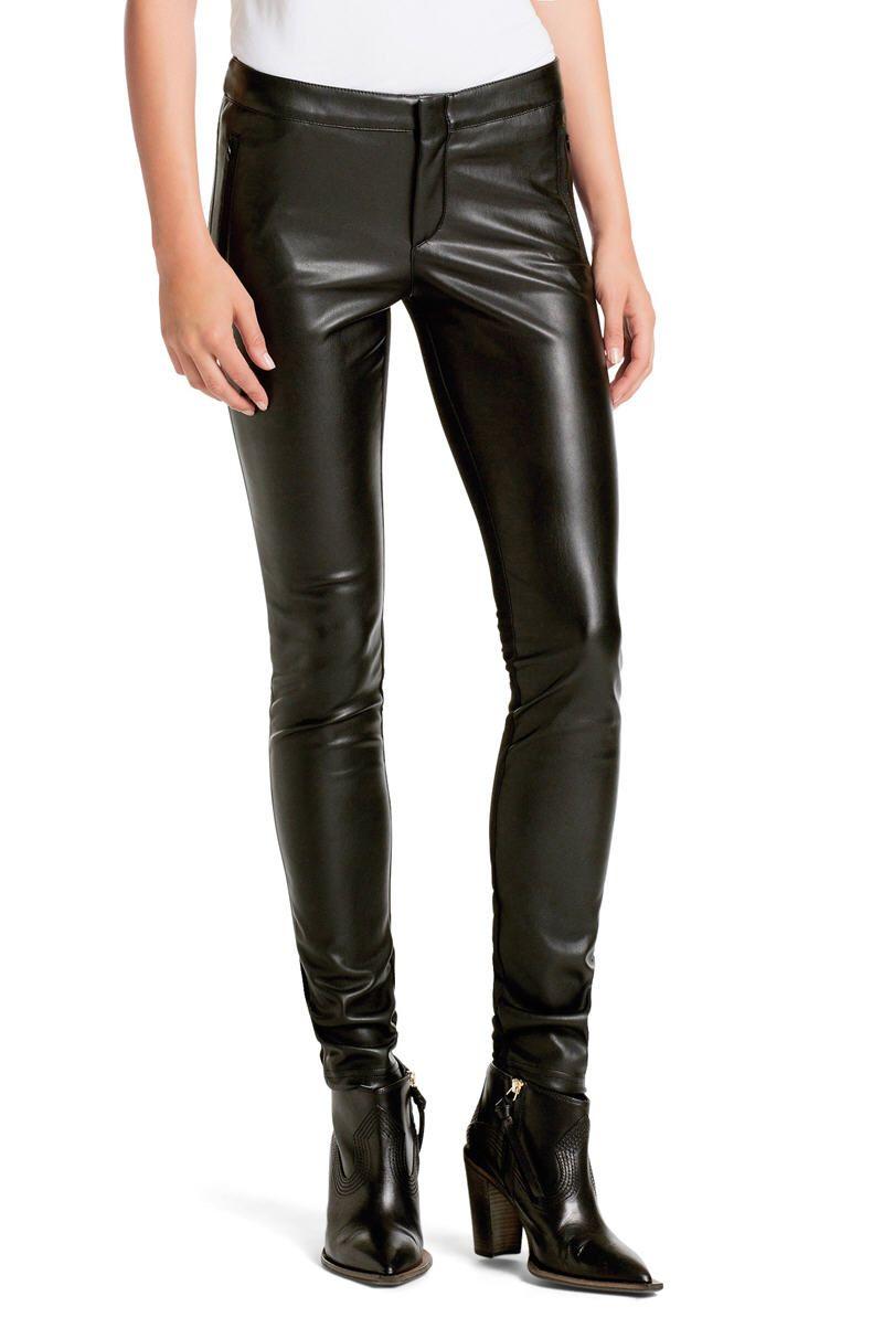 1dfdf124bbe8 BOSS Orange Pantalon en cuir Slim Fit Shannina - Pantalon Femme Hugo ...