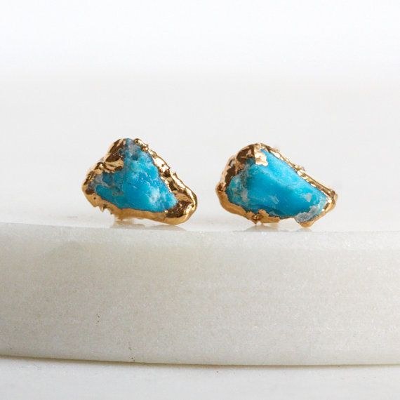 gemstone lovely measure domed turquoise stones are small earrings and cabochons stud pin genuine