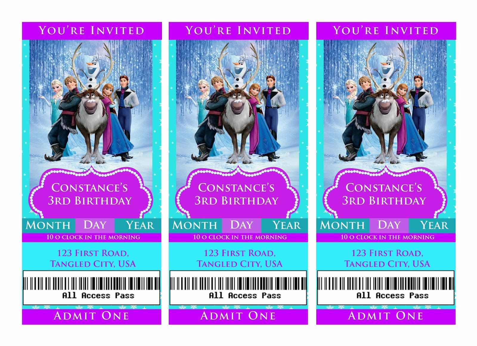 Frozen invitations | frozen invitations this is something i made to ...