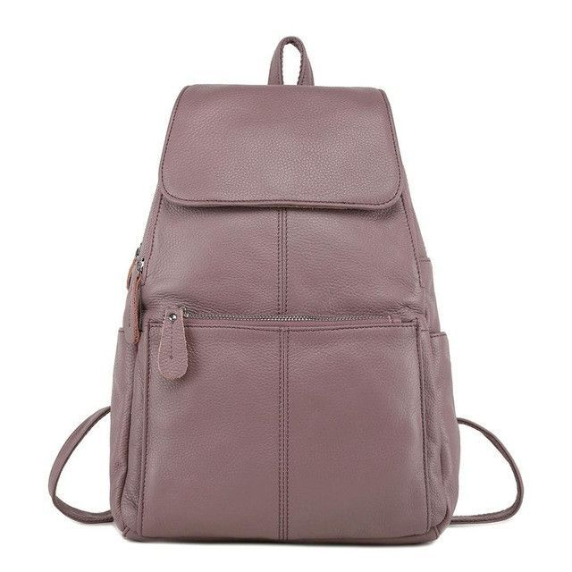 ZENCY Backpack Natural Soft Real Leather Backpacks Genuine First Layer Cow  Leather Top Layer Cowhide Women Backpack School Bags 38e0013eb2bd5