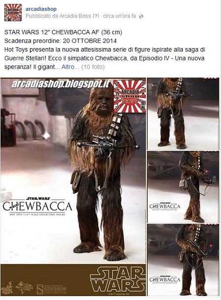 """ARCADIA Shop: STAR WARS 12"""" CHEWBACCA AF (36 cm)"""